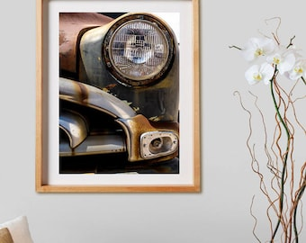 Old Car II.  Photography, wheels, cars, Ford, rust, decor, wall art, artwork, large format photo.