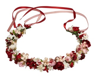 Snow White and Rose Red flowercrown