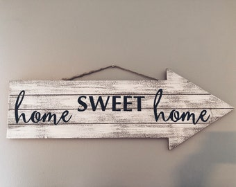 Home Sweet Home Wood Painted Sign