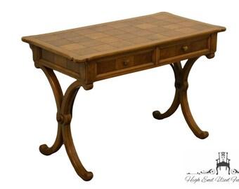 """TOMLINSON / PAVANE Burled Walnut Parquet Top 45"""" Writing Desk"""
