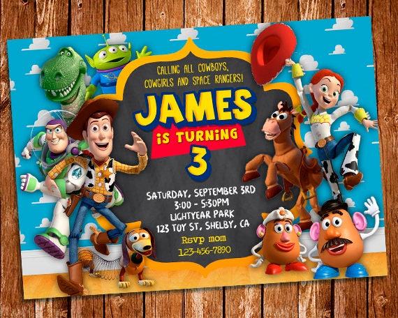 Toy Story Invitation Toy Story Printable Birthday Invitation