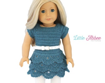 "Download Now - CROCHET PATTERN 18"" Doll Waterfall Dress and Top"