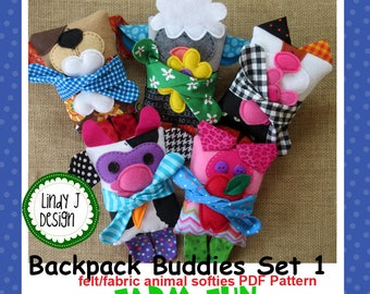FARM SOFTIES Set 1 Backpack Buddies PDF Pattern