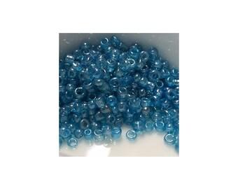11/0 Transparent Luster Aquamarine Seed Beads 5gm