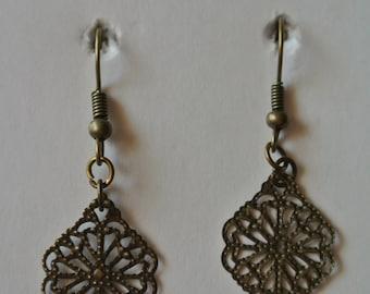 Bronze or Silver Earrings