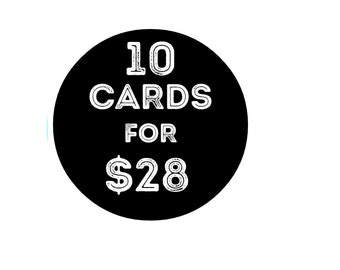 Set of 10 Cards- Sale- Greeting cards