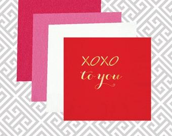 xoxo valentines napkins, valentines day decor napkins, valentines gift, pink napkins, valentines day party supplies