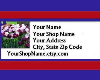 30 PERSONALIZED Return Address Labels. 1 Sheet White 1-Inch Labels. COLOR Picture. 5392
