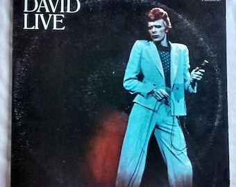 David Bowie-David Live-Vinyl-1974-CPL2-0771-Two (2) LPs-Original Pressing