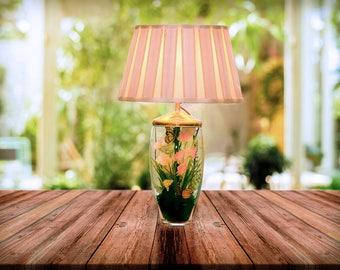 Terrarium Lamp - Bedside Table Lamp - Modern Table Lamp - Lamp with Shade - Handmade Lamp - Woodland Home Decor - Nursery Decor - Desk Lamp