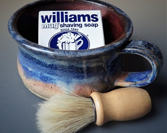 Stoneware Shaving Gift Set  Shaving Cup Shaving Bowl with Soap and Brush
