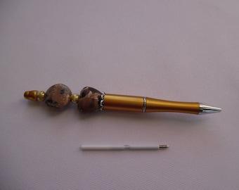 Gold Pen customized coffee cream, ceramic heart.