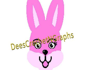 Easter BunnyCrochet Graphghan Graph Chart PDF File 250 X 250