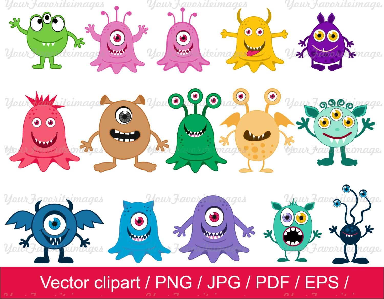 little monster clipart monsters clip art monsters vector rh etsy com monster high clipart monster clip art black and white