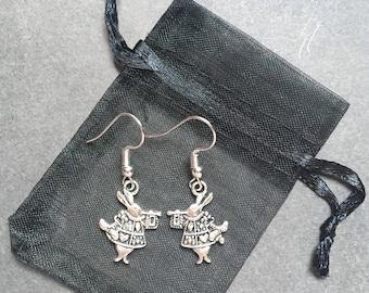 White Rabbit - Alice in Wonderland earrings