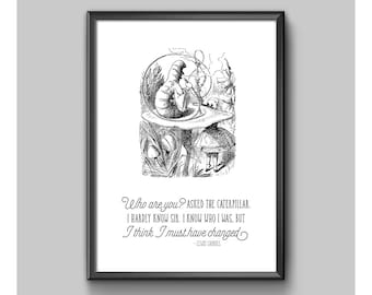 Print - Alice In Wonderland - Who Are You