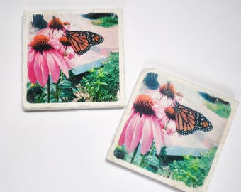 Butterfly Natural Stone Coaster