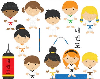 tae kwon do clipart taekwondo clip art - Tae Kwon Do Kids Clipart - BUY 2 GET 2 FREE