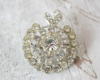 Vintage 1950s Sparkly Thistle Brooch