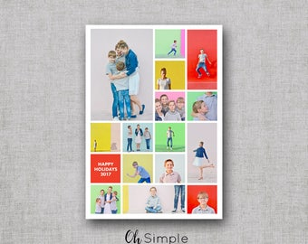 Photo Collage Christmas Cards | Instagram Holiday Cards | Multiple Photos New Year Cards | Christmas cards with picture