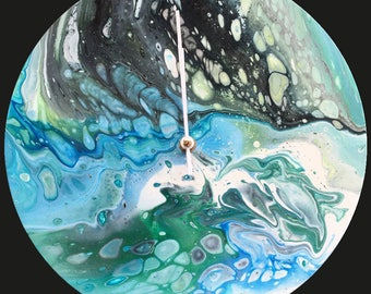 Acrylic 30 cm Wall Clock / Handmade /Unique Designs #24