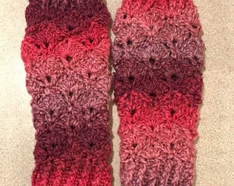 Crochet Fingerless gloves mittens teen ladies arm warmers