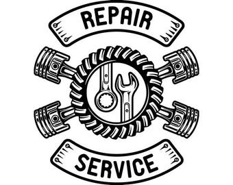 Mechanic Logo 13 Spark Plug Wing Motor Engine Auto Car Part