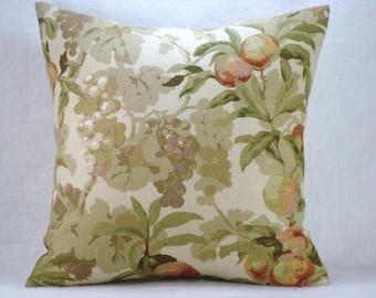 Linen Pillow Decorative Accent Linen Pillow 17x17 Pillow