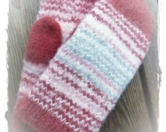 FELTED MITTENS - WOOL