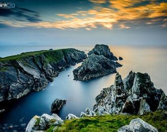 Ireland Malin Head - Donegal Seascape - Landscape Photography - Sky Ocean Photograph - Irish Art - Photo Print - Home Decor Large Wall Art