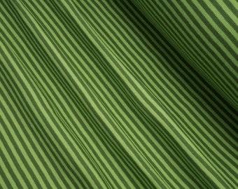 Rib knit fabric plain striped kiwi/green 0.54yd (0.5m) 004027