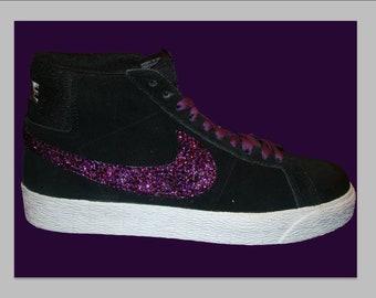 Purple people eater crystal nike blazer kicks