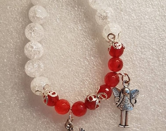 Bracelet handmade with real stones, crystal