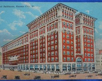 Hotel Baltimore Kansas City Missouri MO Antique Postcard