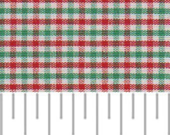 Red and Green Check Fabric, Christmas Gingham, Christmas Check Fabric - Fabric Finders