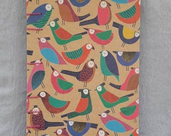 Shy Birdies Coptic Stitch Journal