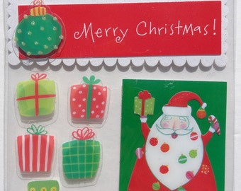 ME & My BIG IDEAS Soft Spoken Scrapbook Stickers - Scrapbook Embellishment - Merry Christmas Stickers