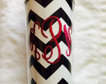 Monogrammed Insulated Photo Insertable Tumbler Mug Hot and Cold Teacher Gift