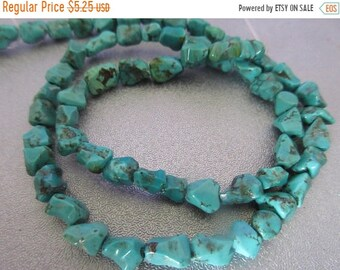ON SALE 20% OFF Turquoise Nuggets Beads 52pcs