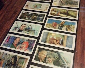 """1 Frame and mats ONLY for 12""""x24"""" Jim Ferguson Movie Print"""