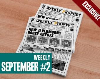 Harry Potter Weekly Prophet September #2 - Harry Potter Daily Prophet Printable Newspaper Artwork
