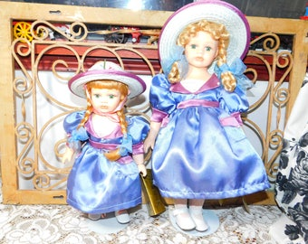 Seymour Mann Dolls Sister Dolls with Stands and Tags, Vintage Dolls, Porcelain Dolls, Sister Dolls, Dolls, Gift Idea, Prop, :)s*