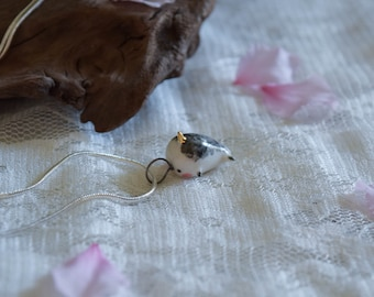 Porcelain Narwhale Necklace
