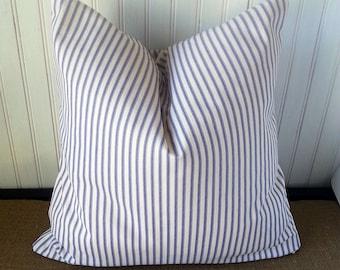 Blue Stripe Pillow - Blue Stripe Pillow Cover - Blue Striped Pillows - Beach Pillows Blue - Beach Pillow Decorative - Beach Cottage Decor