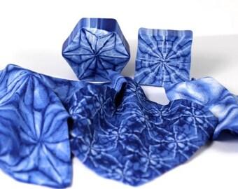 Polymer Clay Indigo Shibori and Tie Dye Cane Tutorial