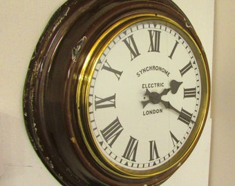 1930/1940s Synchronome  Vintage Electric Wall Clock