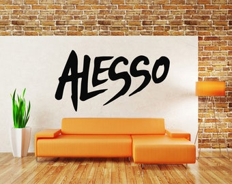 Wall Decal Sticker House Techno Musician Club Dubstep Name Music Melody Band Jazz Dj Composer Notes Piano Guitar ZX476