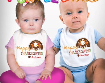 Happy Thanksgiving - Personalized with Name - Boys / Girls