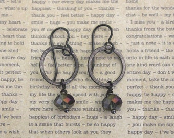 Vintaj Jewelry, Gray Jewelry, Industrial Jewelry, Boho Earrings, Black Jewelry, Bohemian Jewelry, Industrial Jewelry, Wrought Iron Jewelry
