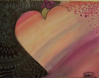3D Painting - Falling In Love - Heart Series 1
